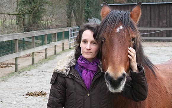 Violetta Berger mit Pferd
