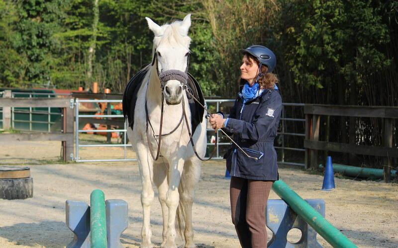 Violetta Berger mit Pferd Rockette